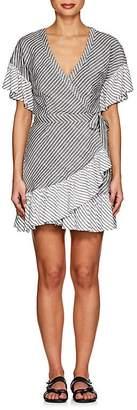 Suboo Women's Striped Voile Wrap Dress
