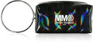 Maison Margiela Black Patent Leather Clutch w/Metal Handle