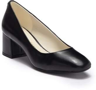 Anne Klein Whisp Leather Block Heel Pump