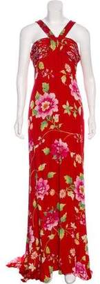 Valentino Floral Silk Dress w/ Tags