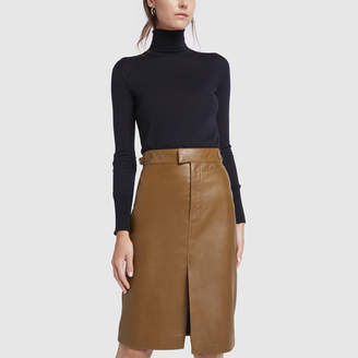 Officine Generale Leather Flora Skirt