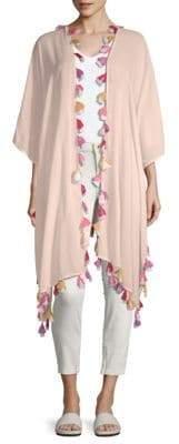 Bindya Tassel Trim Kimono Cardigan