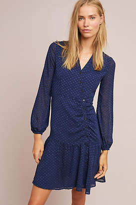 Yumi Kim Ruched Swiss Dot Dress