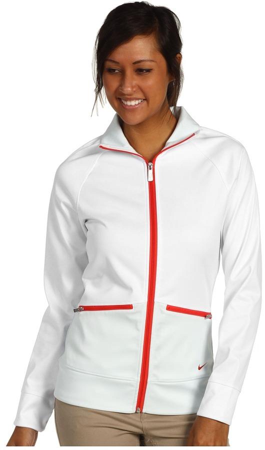 Nike Sport Full-Zip Track Jacket (White/Windchill) - Apparel