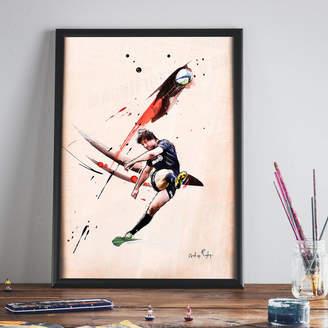 BA&SH Art of Football Bish Bash Bosch : Saracens Print