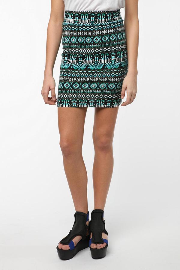 Sparkle & Fade Geo Mini Skirt