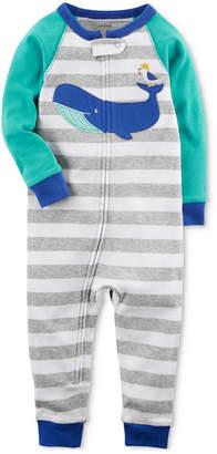 Carter's Whale Striped Cotton Pajamas, Baby Boys