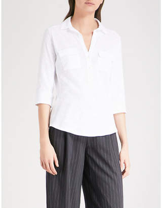 The White Company Rolled-sleeve cotton shirt
