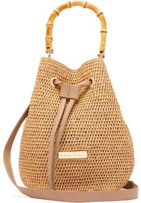 Heidi Klein Savannah Bay Bamboo Mini Bucket Bag - Womens - Beige