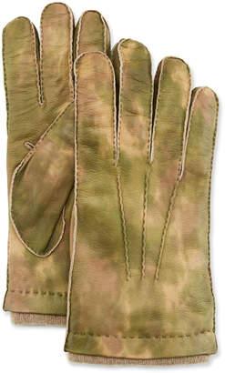 Guanti Giglio Fiorentino Men's Three-Cord Lamb Leather Gloves w/ Cashmere Lining