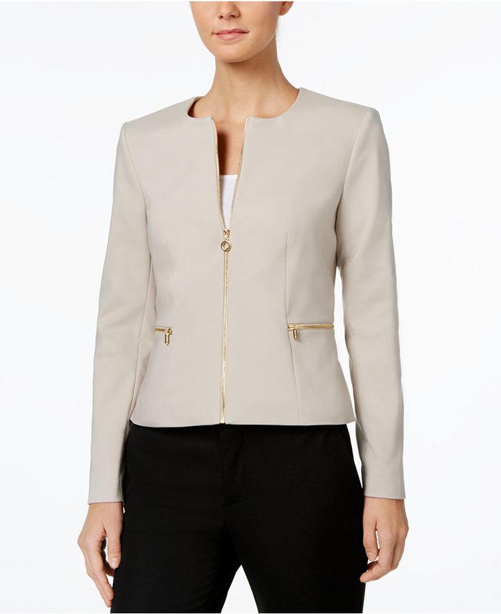 Calvin Klein Pleated-Back Jacket