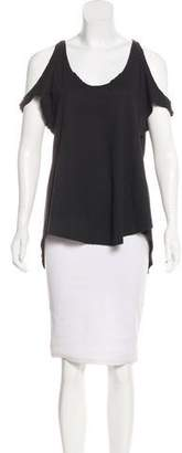Calypso Scoop Neck Jersey Top