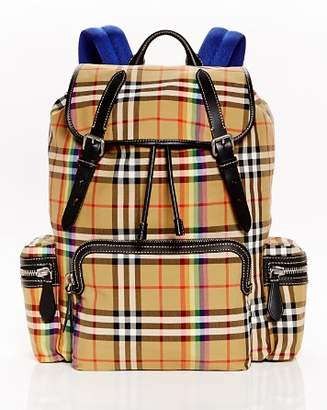 Burberry Rainbow Vintage Check Backpack