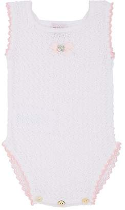 Paz Rodriguez Infants' Crochet Cotton Sleeveless Bodysuit