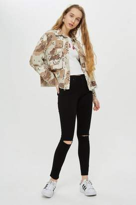 Topshop Womens Ripped Leigh Jeans