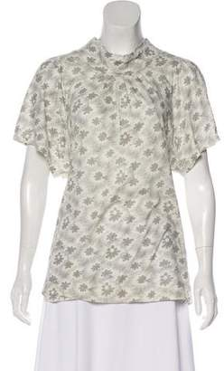 Marc by Marc Jacobs Metallic-Accented Floral Top