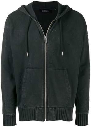 Diesel zipped up hoodie