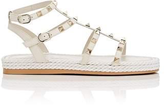 Valentino Women's Rockstud Torchon Leather Platform Sandals