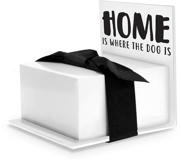 'Home Is Where the Dog Is' Sticky Note Stand Set