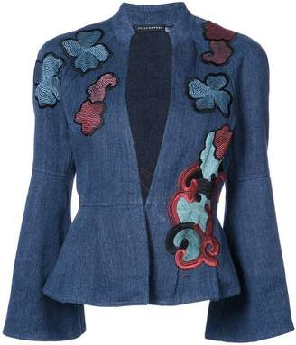 Josie Natori embroidered peplum jacket