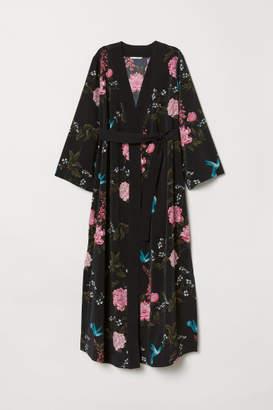 H&M MAMA Patterned Kimono - Black