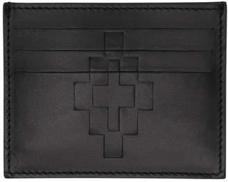 Marcelo Burlon County of Milan Black Embossed Cross Card Holder