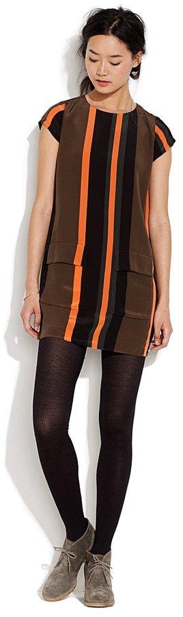 Madewell Tickertape stripe shift dress
