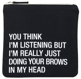 ABOUT FACE DESIGNS Eyebrows Cosmetic Pouch $15.99 thestylecure.com
