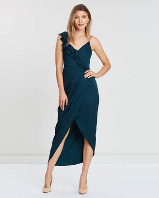 Shona Joy Luxe Asymmetric Ruffle Dress