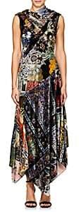 Erdem WOMEN'S REZA VELVET MAXI DRESS - RED SIZE 12 UK