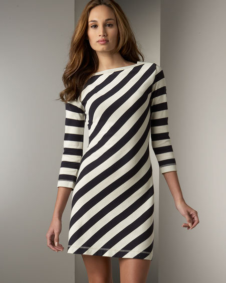 Tory Burch Striped Jersey Dress