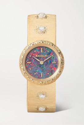 Buccellati Macri 24mm 18-karat Gold, Opal And Diamond Watch