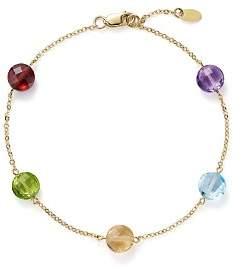 Bloomingdale's Multi Gemstone Station Bracelet in 14K Yellow Gold - 100% Exclusive