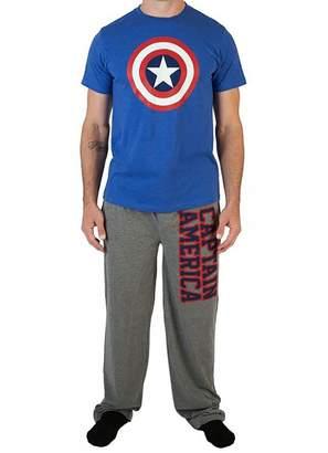 Bioworld Merchandising Marvel Comics Captain America Guys Pajamas for Men