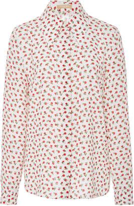 Michael Kors Floral-Print Silk Shirt