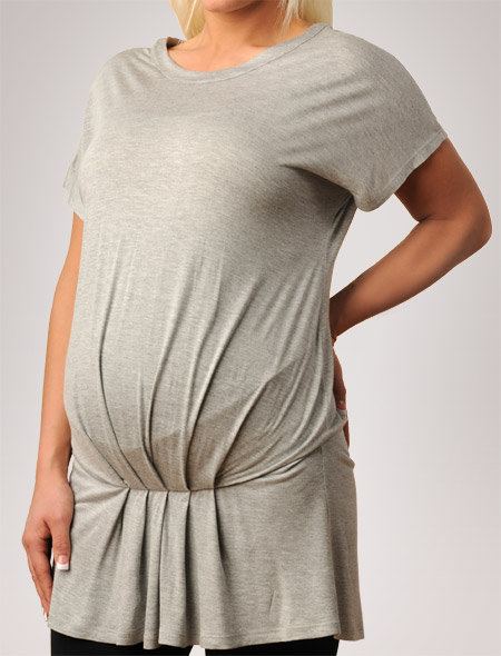Apeainthepod Short Sleeve Crew Neck Dropwaist Maternity Tunic