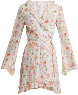 Athena PROCOPIOU Gold In The Air Of Summer wrap silk dress