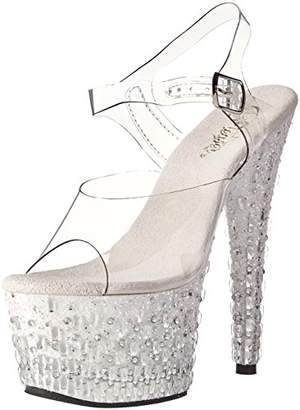 Pleaser USA Women's Ado708mr-5/c/w-s Platform Sandal