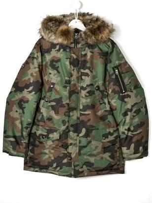 Ralph Lauren TEEN camouflage printed coat