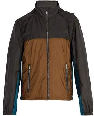 Prada Contrast Panel Nylon Jacket - Mens - Multi