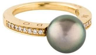 Movado 18K Pearl & Diamond Ring
