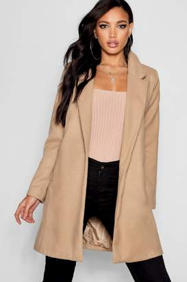 boohoo Oversized Button Wool Look Coat
