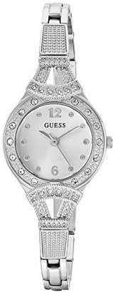 GUESS Women's Stainless Steel Crystal Vintage-Inspired Bracelet Watch