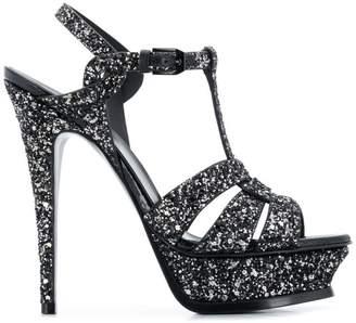Saint Laurent glittery platform sandals