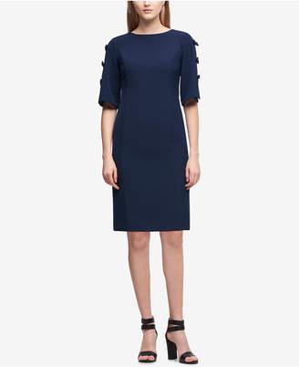 DKNY Bow-Sleeve Shift Dress, Created for Macy's