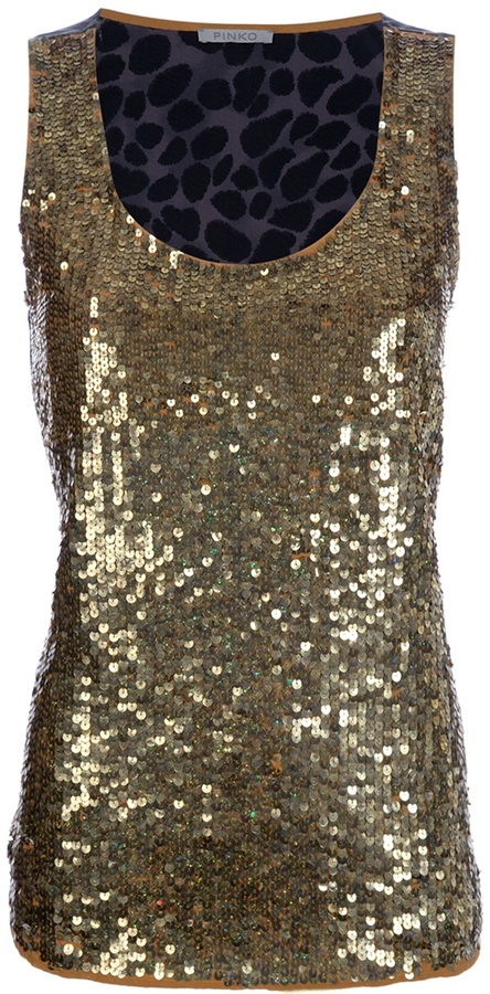Pinko sequinned top