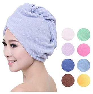PU Beauty Microfiber Hair Towels Ultra Absorbent Material for Quick Dry Hair