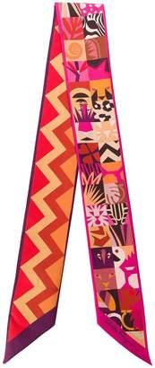 Salvatore Ferragamo exotic animal print scarf