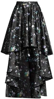 Flor Et. Al Amanda Floral Tiered High-Low Skirt