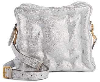 Anya Hindmarch Chubby Cube Crinkled Metallic Leather Crossbody Bag